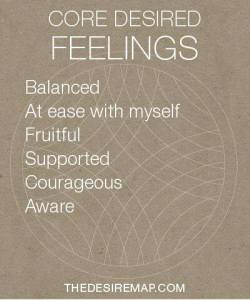My Core Desired Feelings from The Desire Map